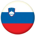 Slovenia Country Flag 25mm Keyring